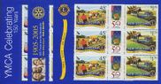 NZ SG2764-9 Anniversaries of Organisations (YMCA, Rotary, Lions) set of 3 sheetlets of 6
